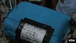 Vali của hành khách trên chuyến bay xấu số AirAsia QZ8501.