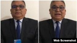 Le général Ramon Rangel dans la vidéo postée sur YouTube le 12 mai 2019.