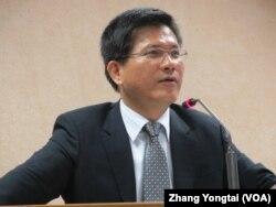 台湾在野党民进党立委林佳龙9月30号于立法院(美国之音张永泰拍摄)