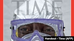 """Majalah Time menyebut para petugas medis yang menanggulangi wabah Ebola sebagai """"Tokoh Tahun 2014""""."""