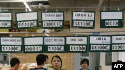 Giá cả các mặt hàng tại siêu thị Saigon Coop ở Hà Nội