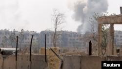 敘利亞哈馬與阿勒頗的軍事基地星期天受到導彈襲擊。