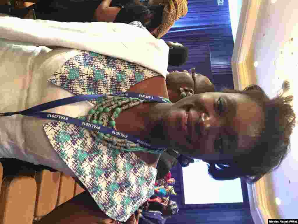 Awa Caba, participante sénégalaise au YALI 2016, Washington, le 3 aout 2016 (VOA/Nicolas Pinault)