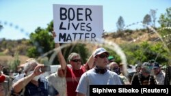 Protest at Senekal magistrate court in South Africa