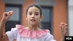 Los niños fueron el mejor reflejo de la herencia hispana.