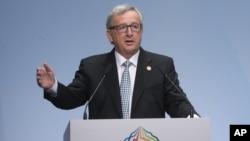 Presiden Komisi Eropa, Jean-Claude Juncker (foto: dok). Juncker akan bertemu PM China Li Keqiang untuk membahas investasi China di Eropa.