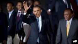 Барак Обама и Ухуру Кеньятта