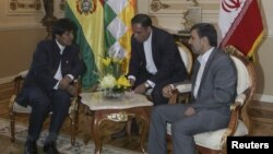 El presidente iraní, Mahmoud Ahmadinejad, se reunió con el mandatario de Bolivia, Evo Morales.