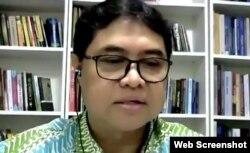 Anggota Dewan Pers, Asep Setiawan. Kamis 30 April 2020. (Foto: screenshot)