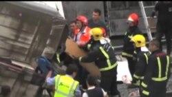 2013-07-25 美國之音視頻新聞: 西班牙火車出軌至少77人死亡