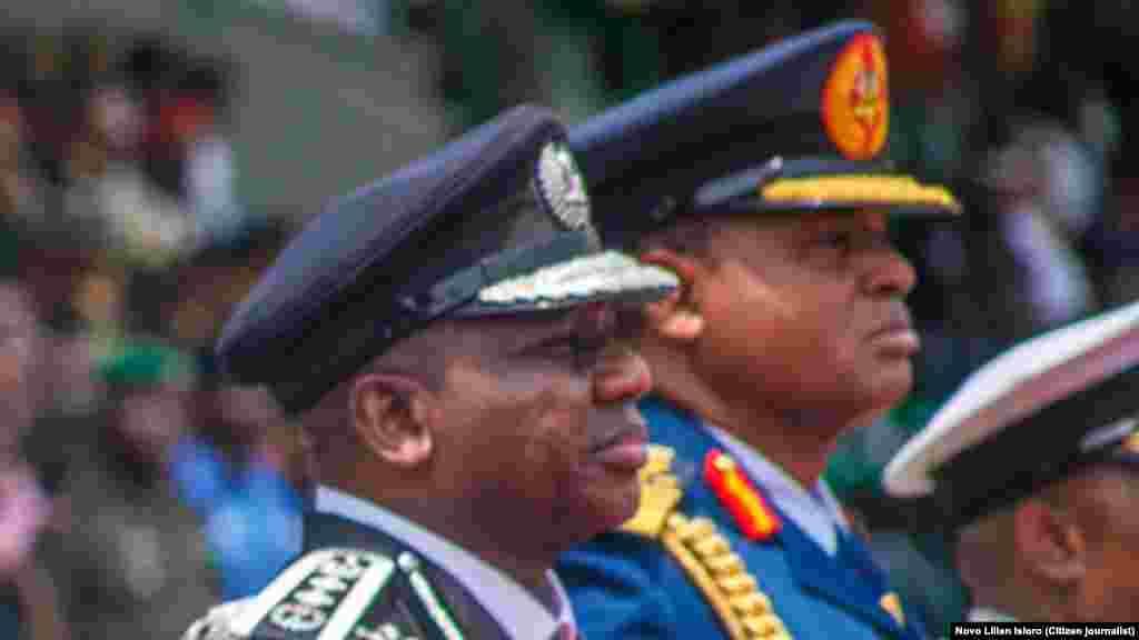 Wasu daga cikin shugabanin gwamantin Najeriya a Filin Eagle Square Three Arms Zone dake Abuja, Ranar Litinin 1 daga Watan Oktoba shekarar 2018.