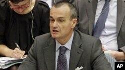 联合国安理会的主要欧洲国家要求谴责叙利亚暴力镇压和平抗议者。图为法国驻联合国大使阿劳德。