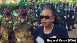 Cérémonie en hommage aux troupes africaines par la Présidente de la Transition centrafricaine Catherine Samba-Panza