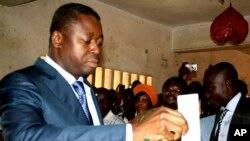 Faure Gnassingbé lors des élections de 2013