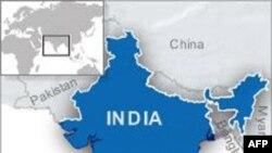 蓝色部分为印度