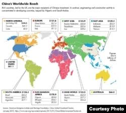 中国在世界各地投资分布图(截图)