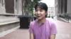 來自重慶的蔣旻曦2016年進入哥倫比亞大學工程學院學習。(視頻截圖)