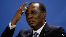 Chad's parliament votes in support of a new constitution, May 1, 2018, that would abolish the prime minister and allow the longtime President Idriss Deby to serve two more terms.
