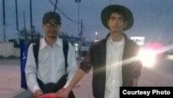 Anh Nguyễn Quang Thạch trong chuyến đi bộ xuyên Việt