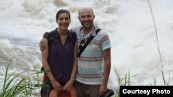 Many honeymooners head for a sandy beach in the Caribbean, but not Emily and Matthew Albert. They visited South Sudan and took in sights like the Fulla Falls in Nimule National Park.