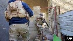 نیرو های عراقی در حال تصفیۀ شهر رمادی