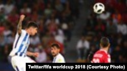 Les Mexicains de Pachuca se sont qualifiés pour les demi-finales du Mondial des clubs où ils seront opposés aux Brésiliens de Gremio, après leur difficile victoire (1-0 a.p.) contre l'équipe marocaine du Wydad Casablanca, Abou Dhabi, 9 décembre 2017. (Twi