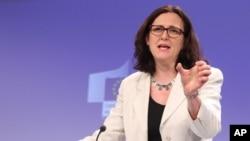 Komisaris perdagangan Eropa, Cecilia Malmstrom (foto: dok).