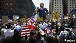 Grupos sociales, organizaciones, sindicatos y activistas se reunieron en el corazón de Los Ángeles.