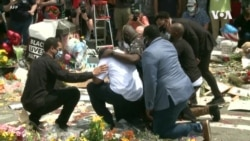 VOA英语视频: 弗洛伊德之死引发的和平抗议仍在继续