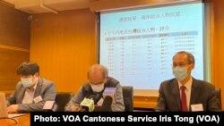 香港民意研究所2月2日公佈最新兩岸領導人民望調查,台灣總統蔡英文的得分持續高於中國國家主席習近平(攝影:美國之音湯惠芸)