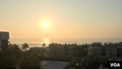 In the Vietnamese city of Da Nang, the sun rises over the South China Sea, which has overlapping claims by Vietnam, China, the Philippines and Malaysia.