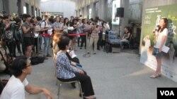 台灣婦女救援基金會舉辦聲援二戰慰安婦的活動。