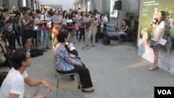 台湾妇女救援基金会举办声援二战慰安妇的活动