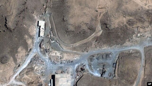 An August 5, 2007 satellite image provided by DigitalGlobe shows a suspected nuclear reactor site in Syria.(AP)