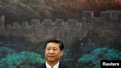 China's President Xi Jinping at the Great Hall of the People in Beijing, May 6, 2013.