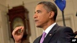 US President Barack Obama delivers the weekly address