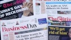 Media Headlines Spotlight Uncertain Future of South African President Jacob Zuma