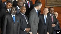 President Robert Mugabe at the AU