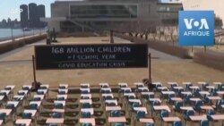 Plaidoyer visuel de l'UNICEF pour la réouverture des salles de classe