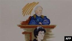 Ильич Рамирес Санчес, он же Карлос-Шакал, в зале суда. Париж. 7 ноября 2011 г.