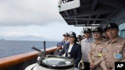 Tổng thống Thái Anh Văn giám sát một cuộc tập trận của Đài Loan.
