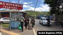 Fronteira da Machipanda entre Mocambique e Zimbabwe