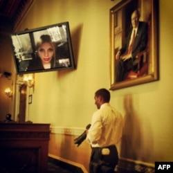 На слуханнях, через Skype, виступила Євгенія Тимошенко.