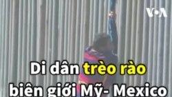 Di dân trèo rào biên giới Mỹ- Mexico chỉ để... bị bắt