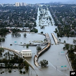 عکسی از شهر نیواورلئان بعد از توفان کاترینا در سال ۲۰۰۵