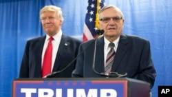 """El alguacil Joe Arpaio dijo que lanza su candidatura para apoyar al presidente de EE.UU., Donald Trump y """"devolver la grandeza a EE.UU.""""."""