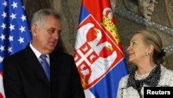 Davlat kotibasi Xillari Klinton, Serbiya prezidenti Tomislav Nikolich, Belgrad