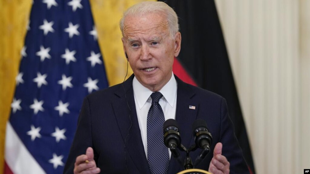 အေမရိကန္သမၼတ Joe Biden. (ဇူလုိင္ ၁၅၊ ၂၀၂၁)