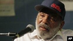 James Meredith, a los 79 años, es hoy todo un símbolo en EE.UU. de la lucha contra la segregación racial.