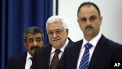 巴勒斯坦民族权力机构主席阿巴斯5月25日抵达拉马拉参加会议